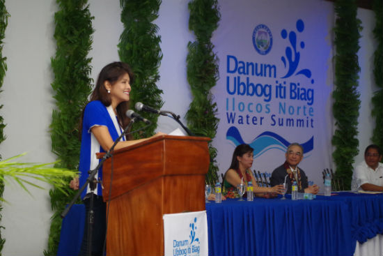 Governor Imee R. Marcos welcomes the participants and guests of the First Water Summit held last November 27, 2014 at Laoag City Auditorium. (Photo by Alaric A. Yanos, PGIN-CMO)